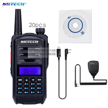 20pcs Walkie Talkie Baofeng UV-82 upgraded version NK UV82 Plus Two Way Ham Radio Transceiver Give1X Speaker Mic or 1X Cable