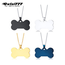 oulai777 2019 stainless steel wholesale men necklace women long mens necklaces jewelry pendant gold personalized Dog bone
