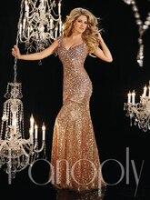 New Arrival Fashion Shining Beadings Sequins Cap Sleeve Party Dress Long Evening Prom vestido de festa