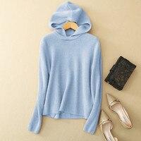 100% козья кашемировые женские вязаные мужские толстовки с капюшоном пуловер с круглым вырезом сплошной цвет Розничная Оптовая Настроить