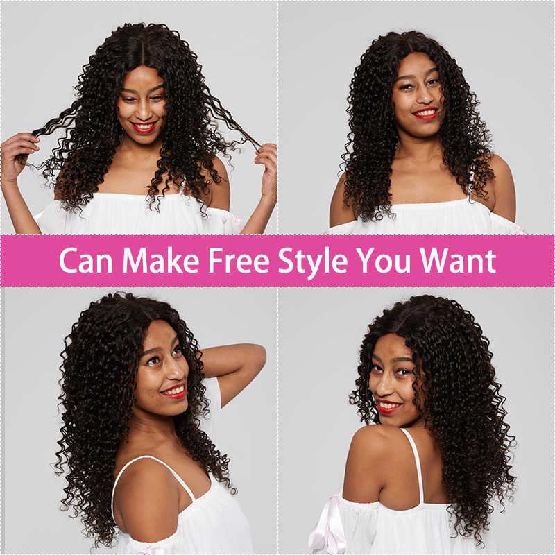 Парики из натуральных волос монгольские волнистые волосы для черных женщин, парик из натуральных волос с детскими волосами