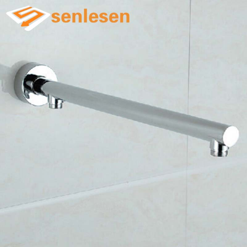 Free Shipping Wholesale And Retail Promotion Wall Mounted Shower Arm 37 Cm Shower Pipe Solid Brass