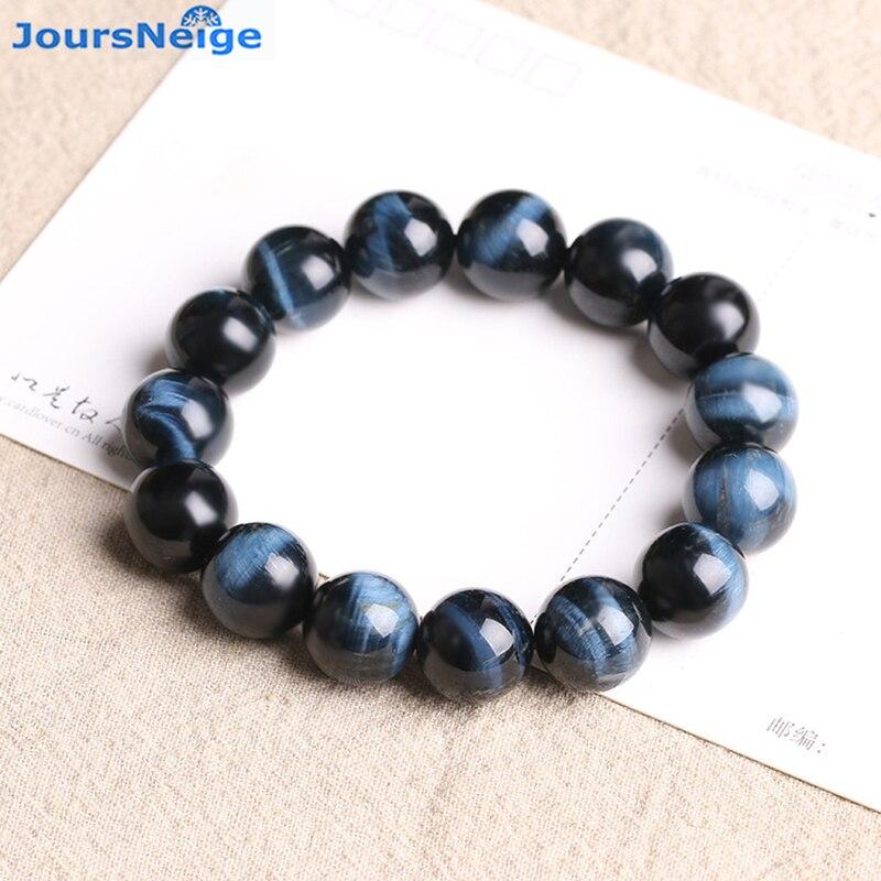 Wholesale Genuine Blue Tiger Eye Natural Stone Bracelets Lucky Business For Women Men Hand String Energy Stone Bracelet Jewelry