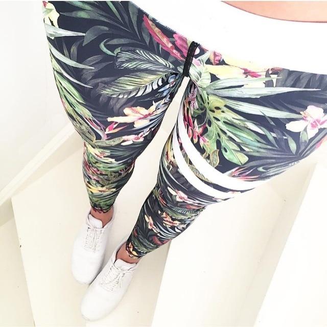 Новый печати Женские спортивные леггинсы для фитнеса Высокая Талия тренировки Брюки спортивные штаны женские быстросохнущая спортивные Леггинсы