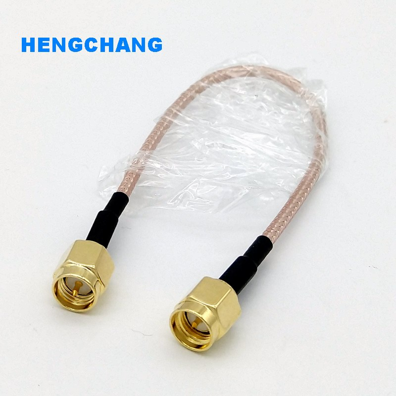 цена на 1Pcs Extension Cable SMA Male Plug to SMA Male Plug Connector Adapter SMA Pigtail Coaxial Cable 15cm RG316