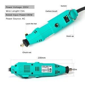 Image 5 - Tungfull Mini broyeur électrique, outil rotatif Dremel, 30000 tr/min, ensemble daccessoires Dremel, Mini perceuse, ciseleur, sculpture, polissage, coupe