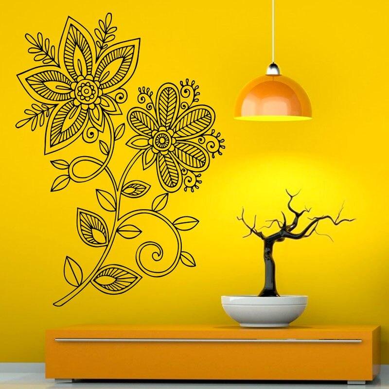 Lotus Wall Decals Murals Mandalas Floral Vinyl Art Wall Stickers ...
