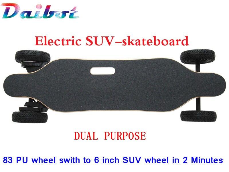 Double usage 4 roues électrique SUV Longboard planche à roulettes montagne conseil 1800 W Hoverboard électrique hors route Scooter double moteur
