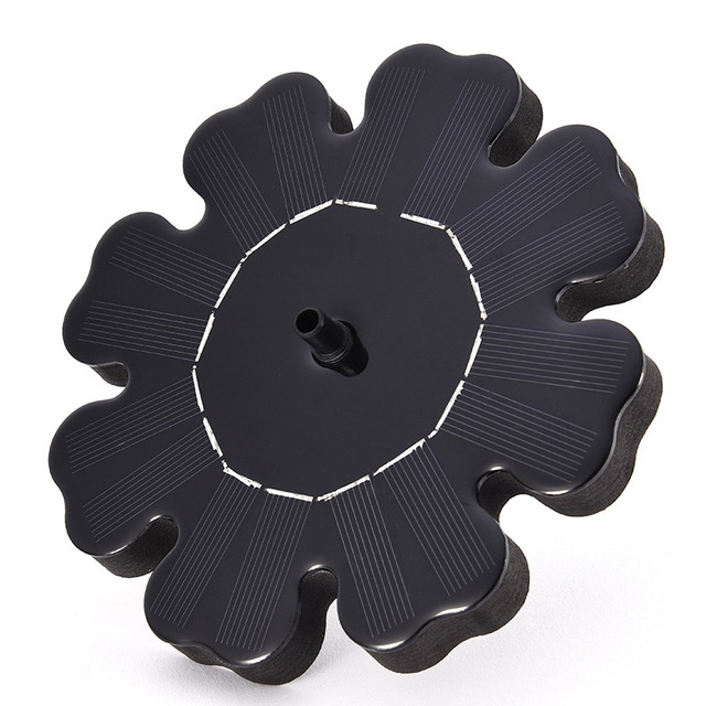 Flower-shaped Solar Power Fountain Birdbath Water Floating  Outdoor Pool Garden Park School Family Daily Decoration