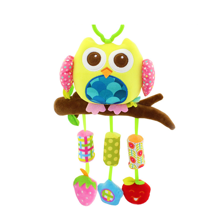 Newborn Baby Stroller Toys Baby Plush Toys With Rattle BB Sounder Aeolian Bells Baby Stuffed &Plush Animal Baby Toys for Infants