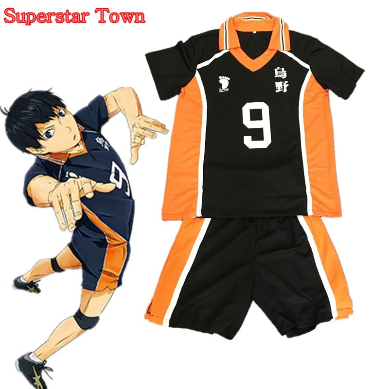 Haikyuu Karasuno Cosplay Shoyo Hinata Costume High School Uniform Kageyama Tobio Jersey Teamsports Jersey Japanese Anime