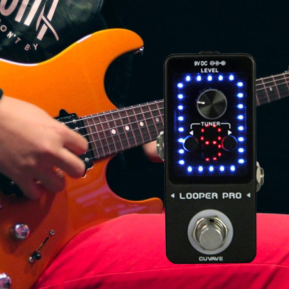 Interface USB guitare effecteur réglage contrôle du Volume enregistrement Led bloc unique monolithique Mini pédale outil mode conviviale