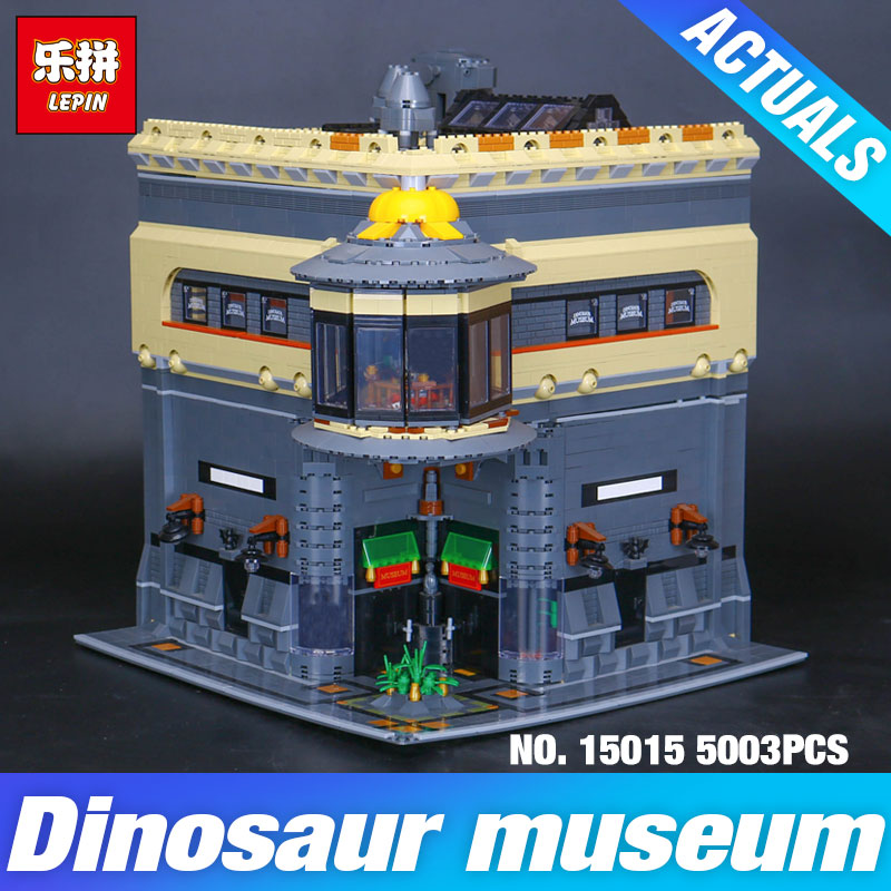 2017 New LEPIN 15015 5003pcs City The dinosaur museum Model Building Kits DIY Brick Toy Compatible Children day's Gift for girl movado museum classic 0606503