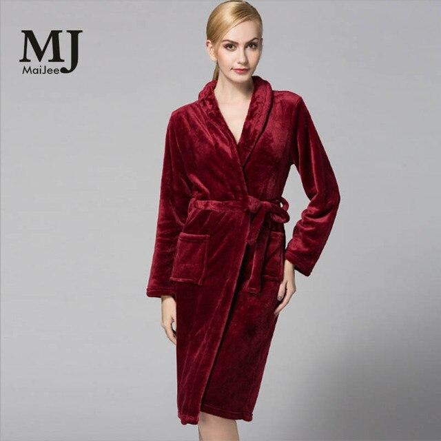 MJ032A Plus Size Flannel Batas De Mujer Bridesmaid Robes Bridesmaid Robes  For Women Bathrobe Peignoir Femme 8449159d9