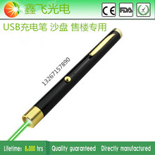 Promo offer 2016 hot sales!!!100mw 532nm NEW USB Recharged green laser pointer free shipping