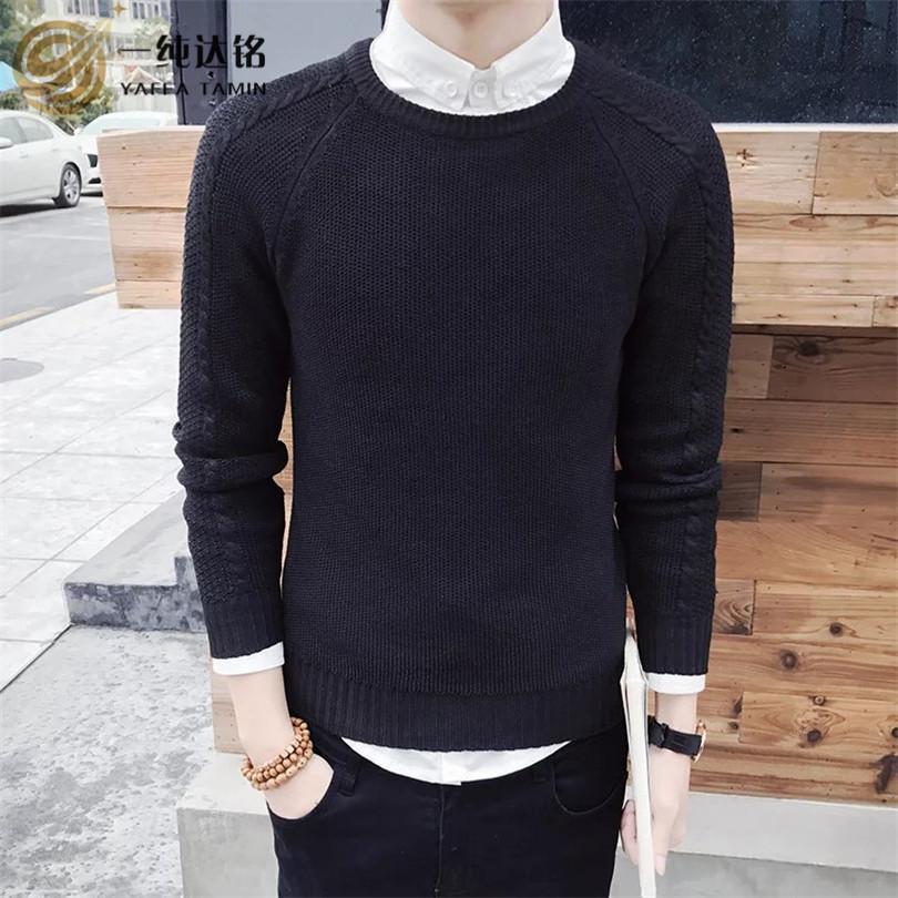 Mens Pullovers Sweaters Autumn Wear Basic Style Men Sweaters Shirts Striped Regular Fashion Knit Shirt men sweaters and pulloves