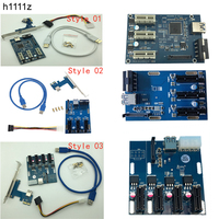 PCI E 1X Expansion Kit 1 To 3 Ports And To 4 PCI Express Witch Multiplier