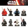 8 unids StormTrooper de Star Wars R2D2 Darth Palpatine Nihilus Piloto Empate Mini Bloques Starwars Clone Figura de Juguete Compatible legoINGlys