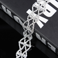 10Yards Crystal Clear Glass Rhinestone Chain Trim Sewing Crafts Jewelry