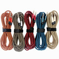 Redbearlin 1.5m Fabric braided 3.5 mm Jack Male to Male Audio Stereo Aux AudioCable Cord For iPhone 5 6 Samsung mp3 speaker