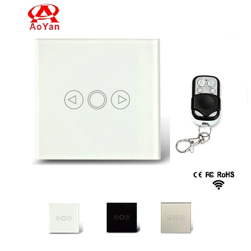 AOYAN EU Standard Touch Switch, Crystal Glass Switch Panel ,LED Dimmer Switch For Dimmable Spot Lights Compatible Broadlink RM2 eu plug 1gang1way touch screen led dimmer light wall lamp switch not support livolo broadlink geeklink glass panel luxury switch