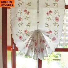 Hot Sale Pink Rose Modern Balloon Curtain Finished Rome Garden Shade Bedroom Windows Tulle Cloth Terri Wong Flower Fashion сумка rose rome dualyunnan 2015