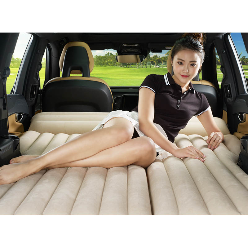 Lit gonflable de voiture matelas de voiture rangée arrière lit de voyage voiture SUV siège arrière lit d'air matelas gonflable avec pompe électrique de voiture