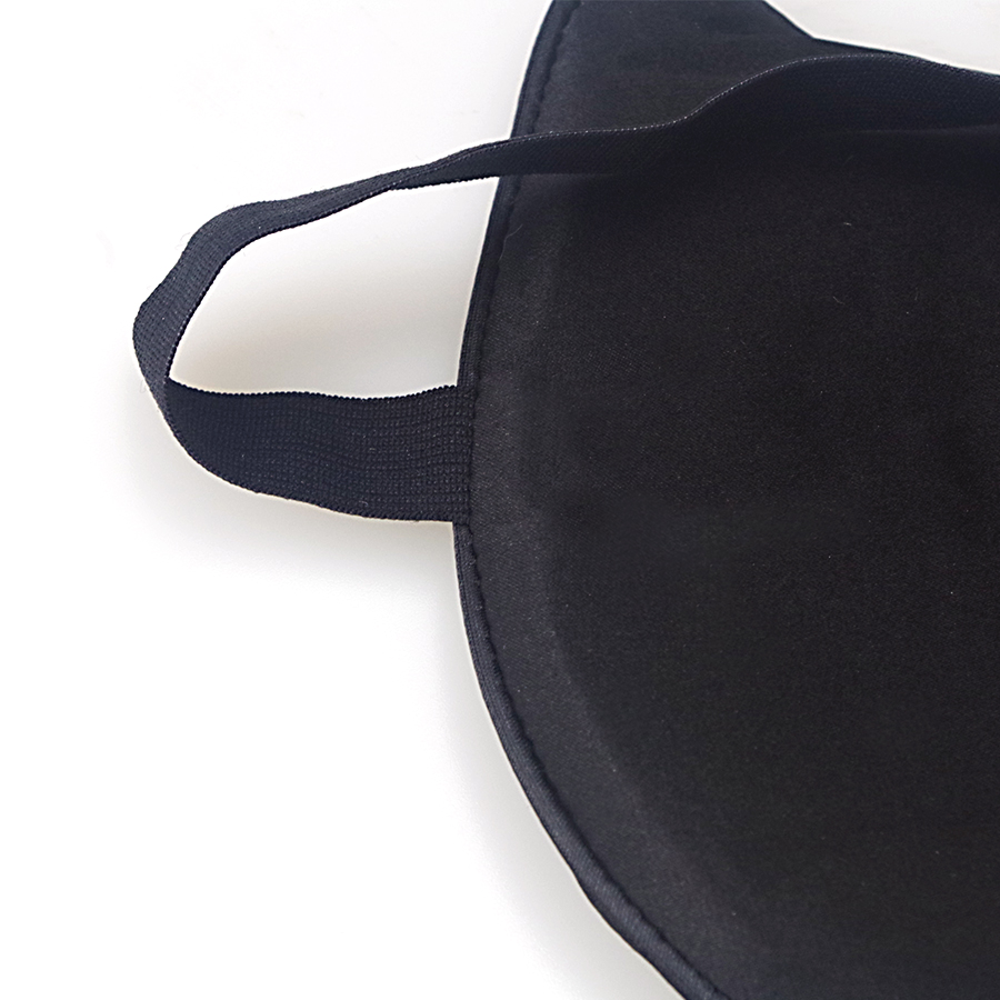 Natural Silk Sleeping Eye Mask Soft Comfortable Travel Rest Sleeping Aid Eye Shade Cover Black Mask Cute Cat Bandage For Eyes 5