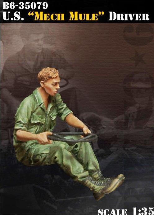 Scale Models 1/35 US Mech Mule Driver Include 1 Soldier  Figure  Uncolor  Resin Model