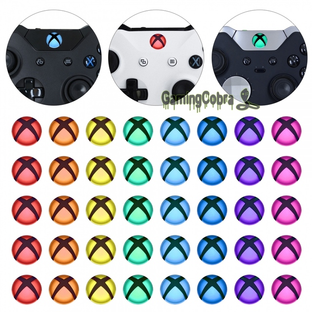 eXtremeRate Custom Home Guide Button LED Mod Stickers for Xbox One /S /Elite /X 40pcs