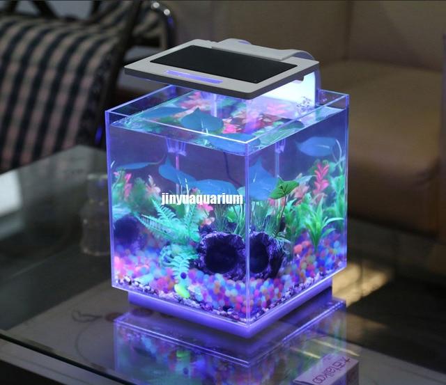LED Licht Aquarium Anlage Wachsen Aquarium Landschaft 110 V ~ 240 V Mini  Nano Weiß