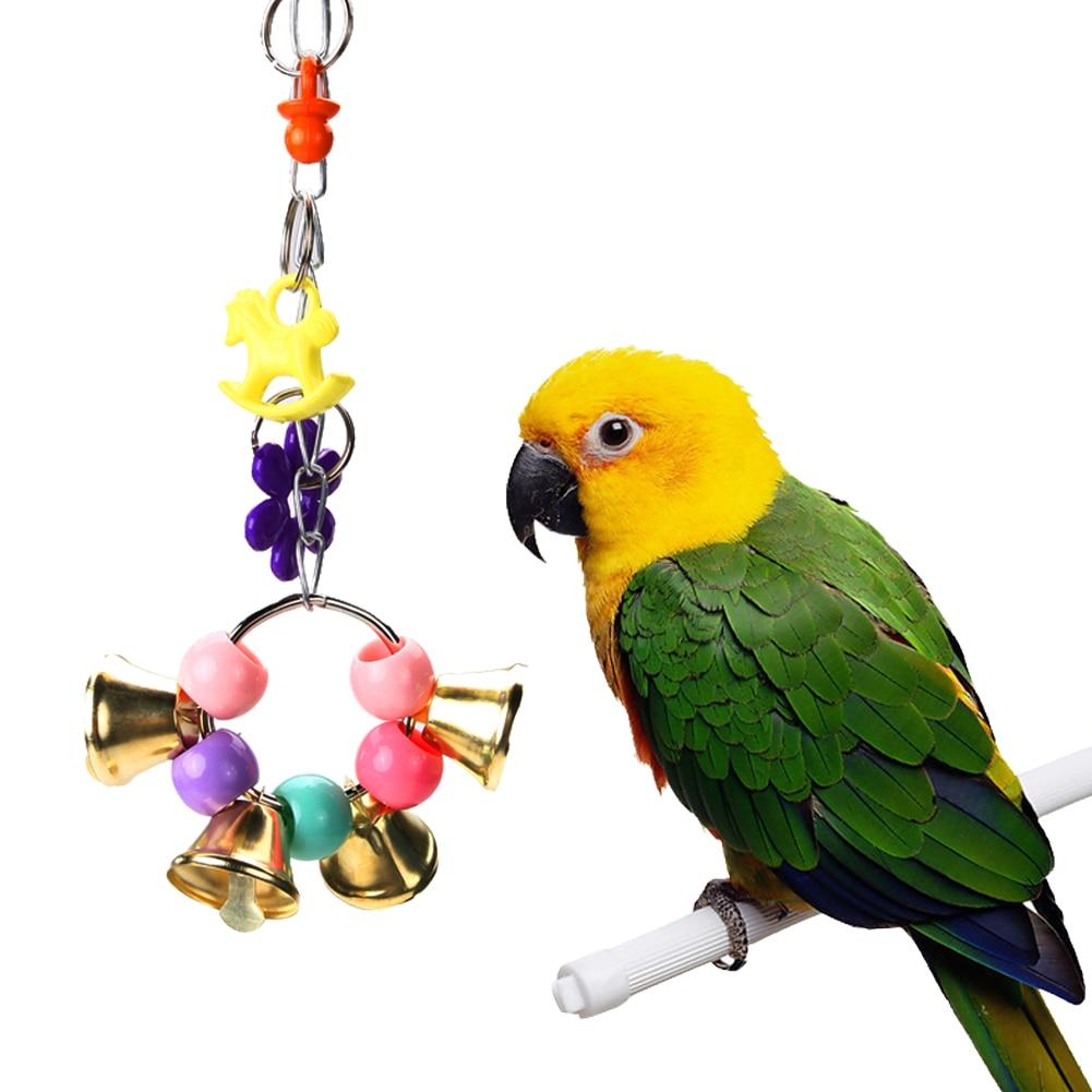 Parrot Toys Birds Macaw Pet Bird Colorful Hanging Acrylic ...
