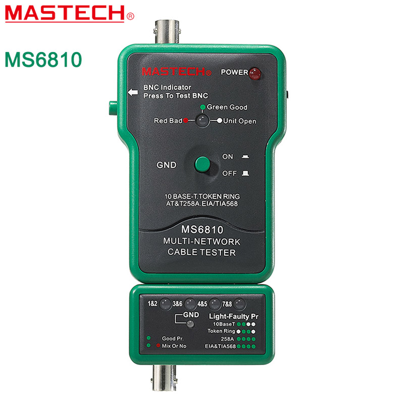 Network Cable Tester  MASTECH MS6810 High Speed Testing Multi Network Cable Tester Meter RJ45 BNC Tests for Coaxial Cable  цены