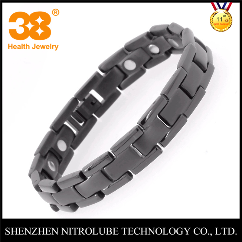 38 2018 New Arrivel Fashion Magnetic Health Men's Jewelry Bracelet Trendy Titanium Chain Link Charm Bracelets Bangles For Womens trendy top white ceramic bracelet elegant star health care titanium bracelets