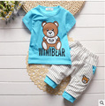 2017 New Toddler Boys Clothing Set Children Summer Boys Clothes 2 Pcs Cartoon Kids Boys Clothes Fashion Baby Boy Costume T553