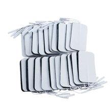 50P Self adhesive Electrode Pads เจลแพทช์สำหรับ Pulse Tens การฝังเข็มบำบัดกระตุ้นกล้ามเนื้อ Slimming อุปกรณ์