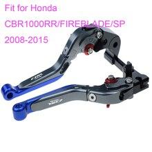 KODASKIN Left and Right Folding Extendable Brake Clutch Levers for Honda CBR1000RR/FIREBLADE/SP 2008-2015