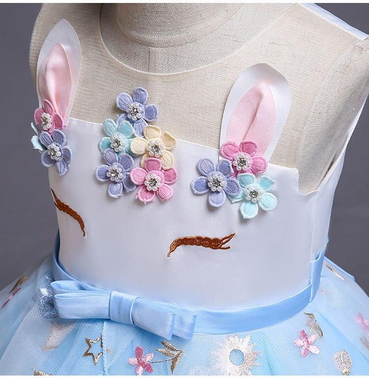 HTB1pLsQavjsK1Rjy1Xaq6zispXaj New Unicorn Dress for Girls Embroidery Ball Gown Baby Girl Princess Birthday Dresses for Party Costumes Children Clothing