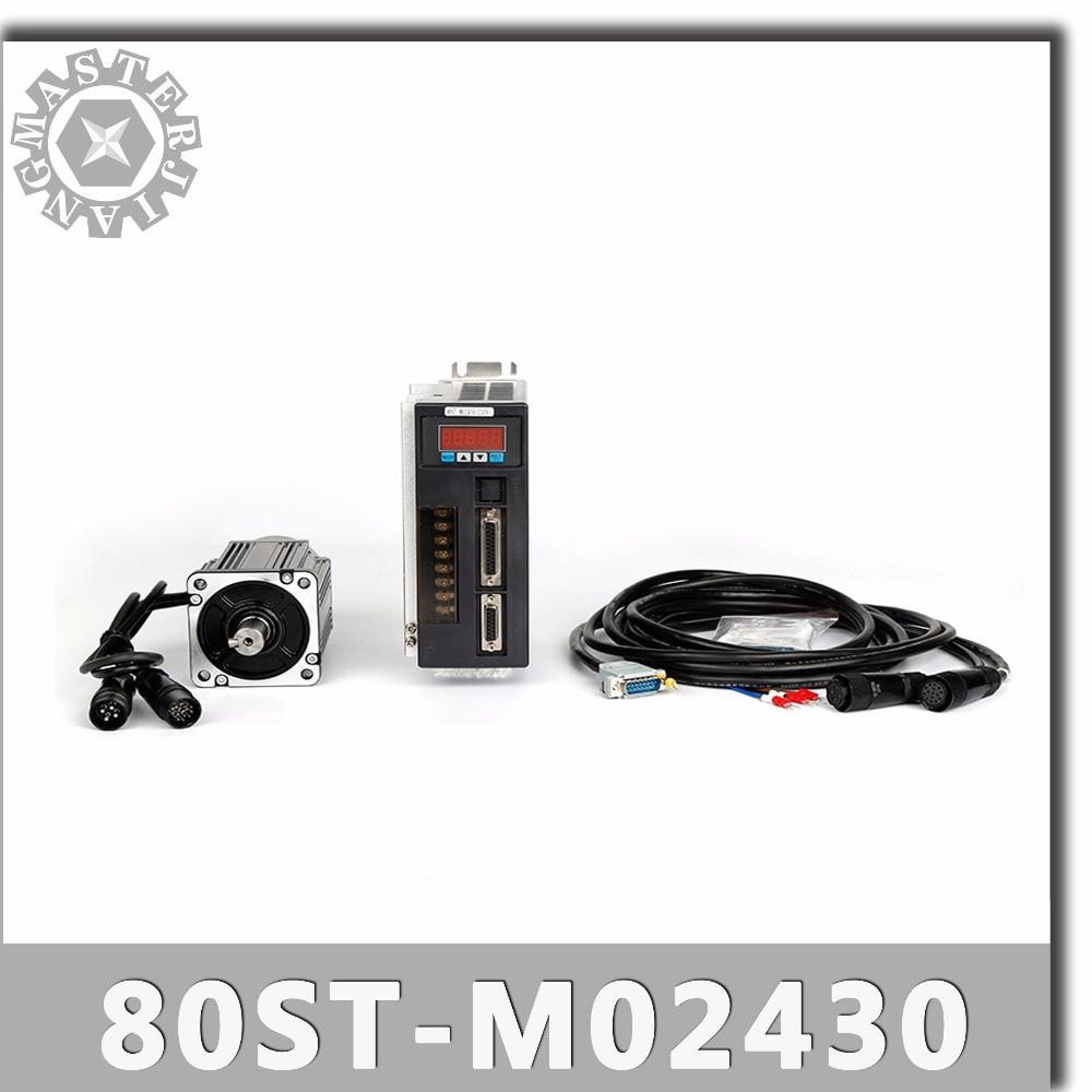 80ST M02430 220V 750W AC Servo motor 2 39N M 3000RPM 0 75KW servomotor Single Phase