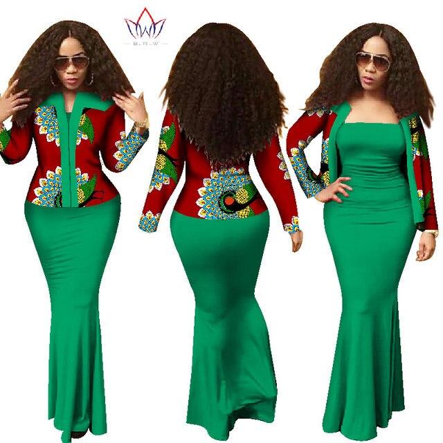 2017 autumn african dresses for women dashiki 2 piece dress crop