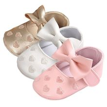 Купить с кэшбэком Bebe PU Leather Baby Boy Girl Baby Moccasins Moccs Shoes Bow Fringe Soft Soled Non-slip Footwear Crib Shoes M2