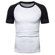 2019 summer new fashion European code men's casual short-sleeved T-shirt sagitar pass raglan sleeves men's T-shirt