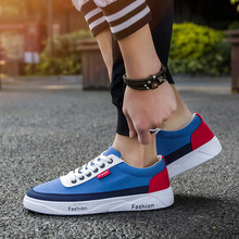 2019 New Navy Blue Gray Black High Quality Shoes Men Casual Breathable Designer Fashion Flat Male Sneakers