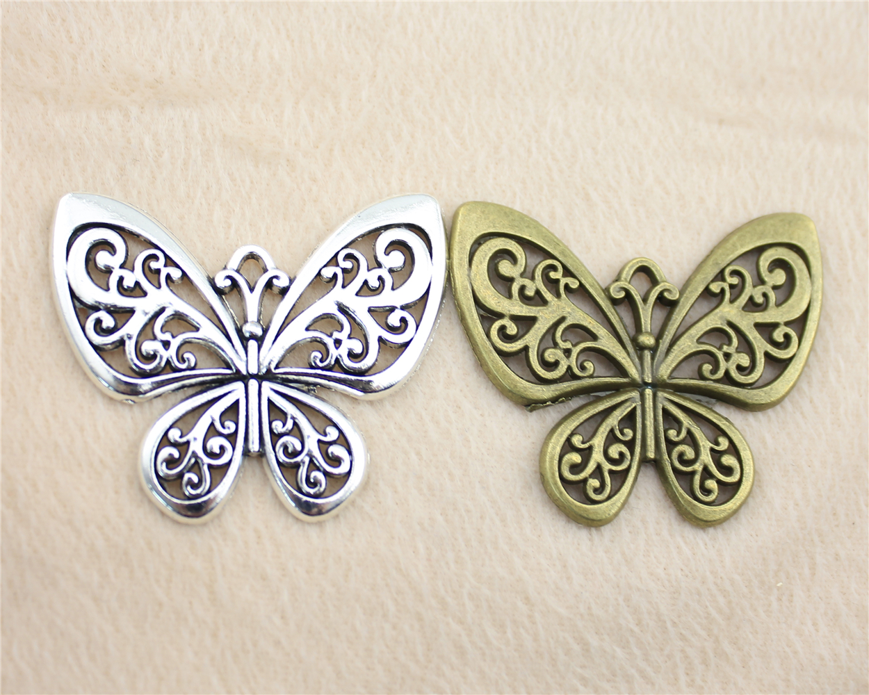 Nº3 unids 57*50mm vendimia plata antigua o bronce color mariposa ...