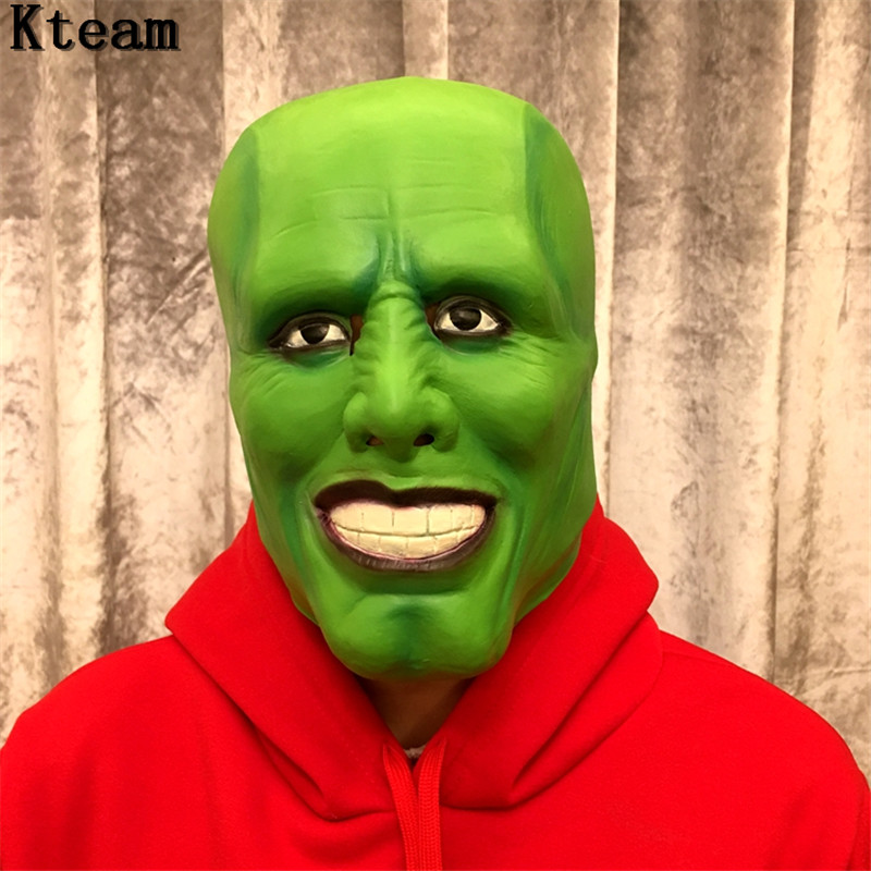 Hot!!!The Jim Carrey Movies Mask Cosplay Green Mask Costume Adult Fancy Dress Face Halloween Masquerade Party Cosplay Clown Mask image