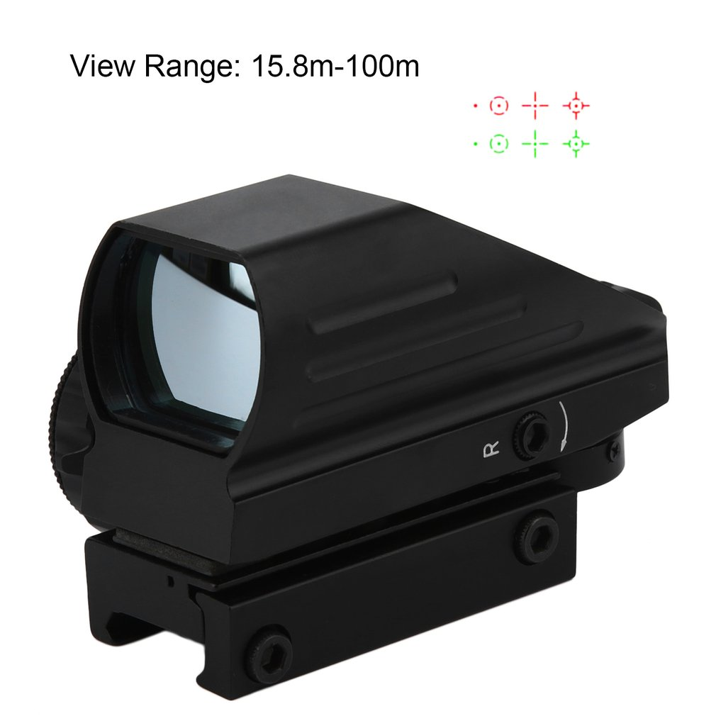 Tactical Reflex Red/Green Dot Laser Holographic Sight 4 Reticle Reflex For Outdoor Shooting Sight Hunting Rail Mount 33 mm