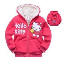 Retail new baby girls Hello Kitty Winter Coat ,2016 Children Outerwear,kids clothes, girls cotton thick warm hoodies jacket.