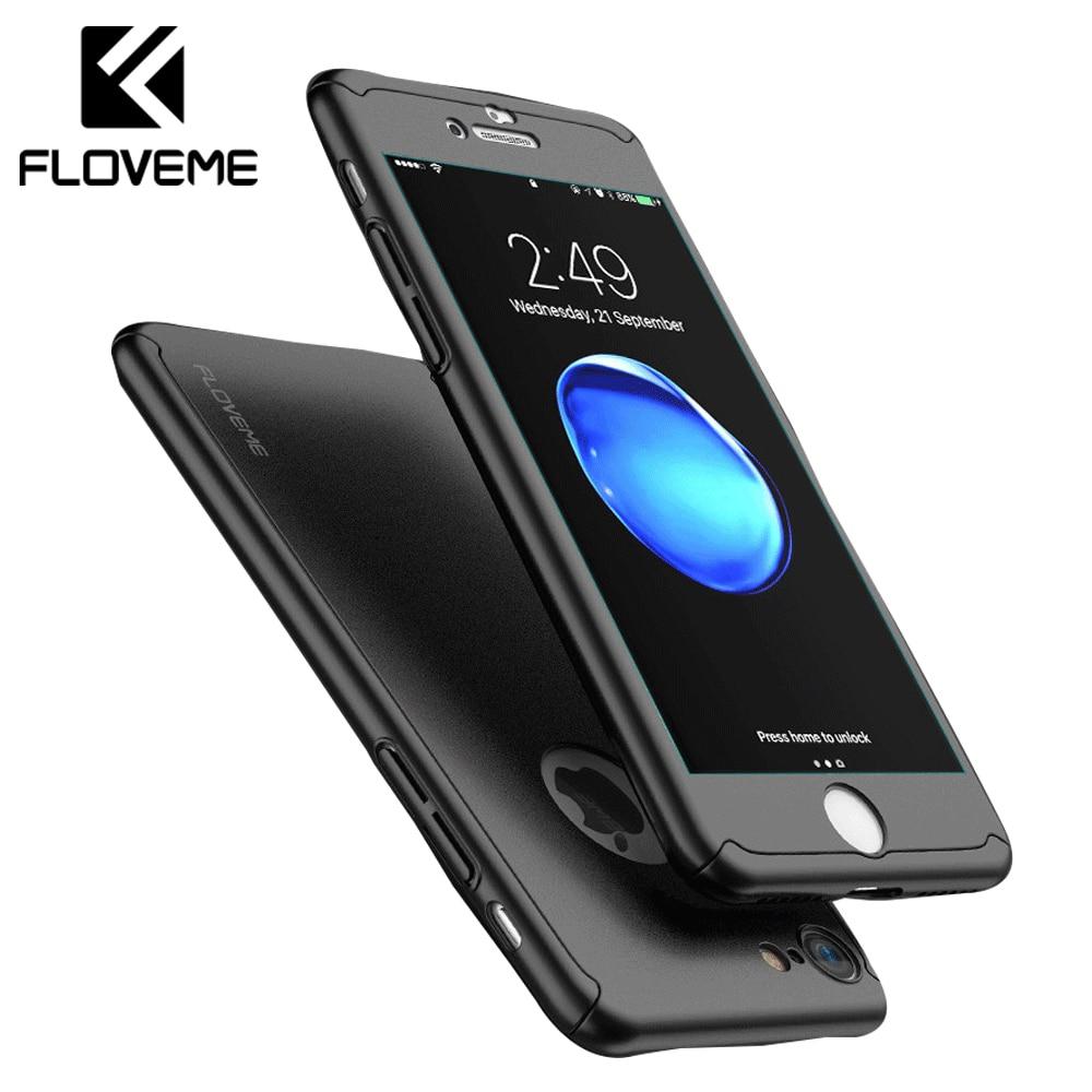 FLOVEME Luxury Case For iPhone X iPhone 6 6S 7 Plus 360 Fitt