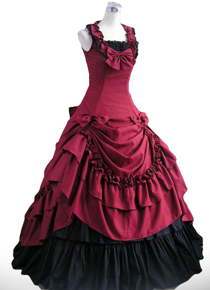 Lolita gothic Victorian halter pleated jumpsuit court dress evening dress custom