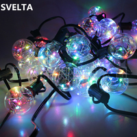 SVELTA 13Ft G40 Bulb Globe LED Retro Garland String Lights Copper Wire Backyard Patio Lights Wedding Vintage LED Bulbs Outdoor